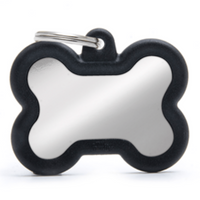 My Family Hush Bone Chrome ID Tag Charm