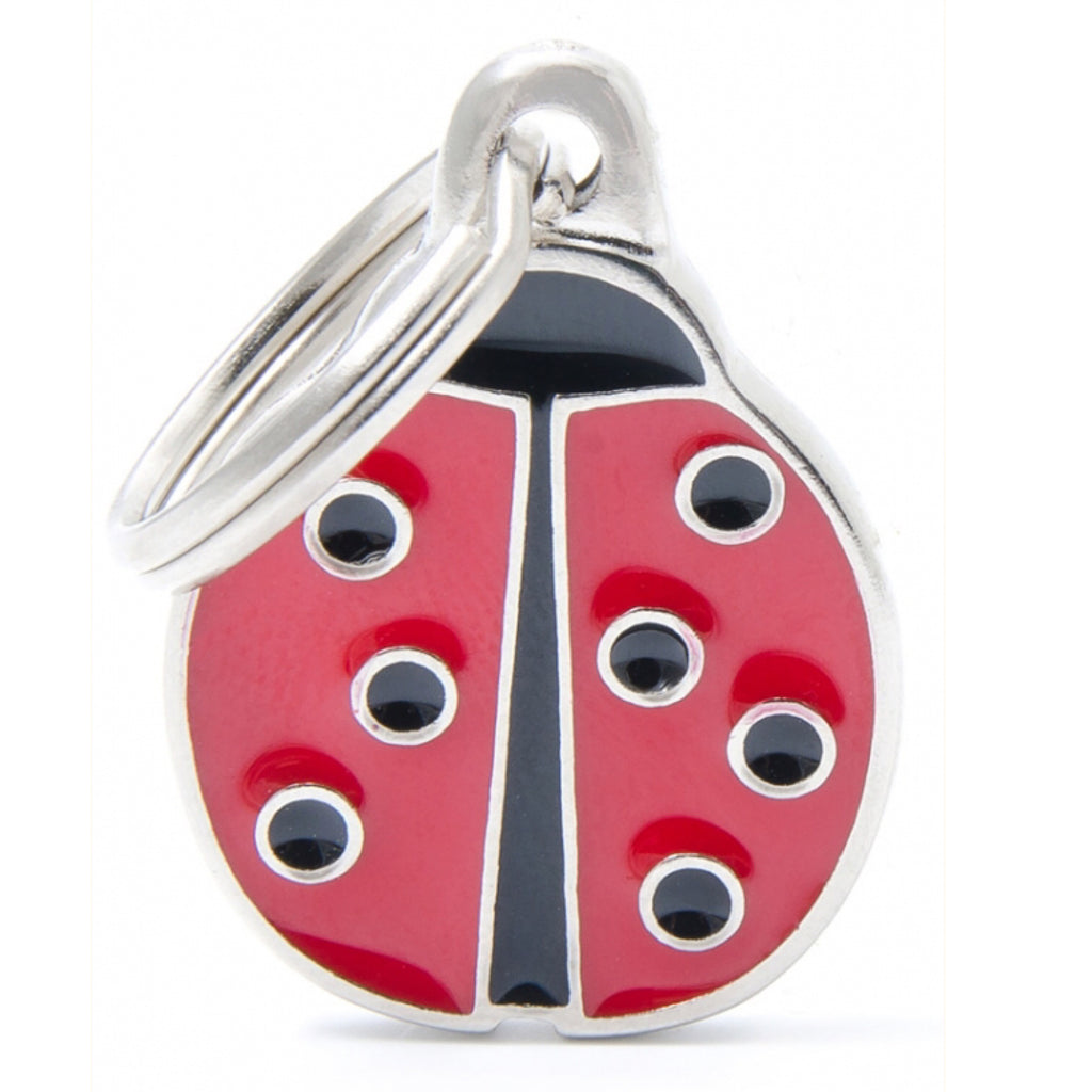 Dog ID Tag Charm My Family Lady Bug