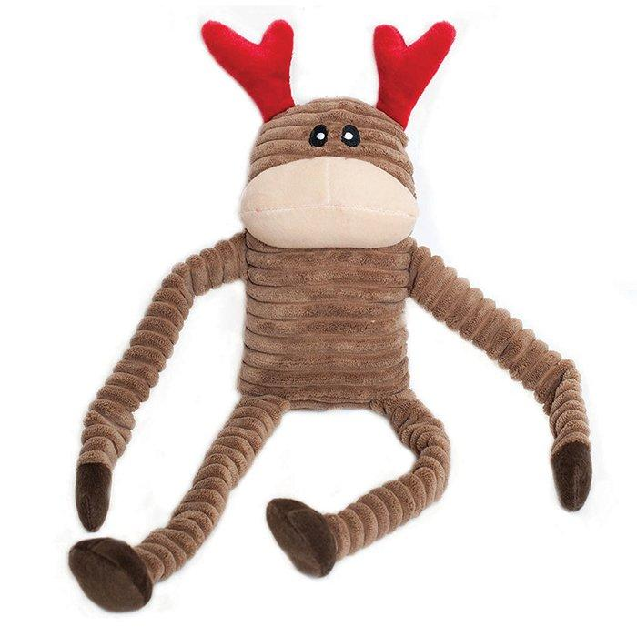 Zippy Paws Holiday Crinkle Reindeer