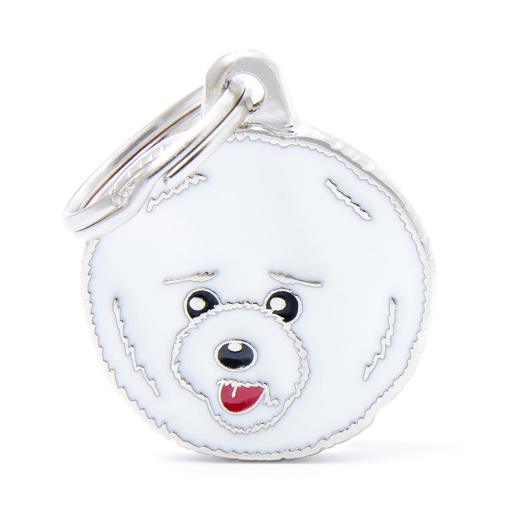 My Family Friends Bichon Frise ID Tag Charm