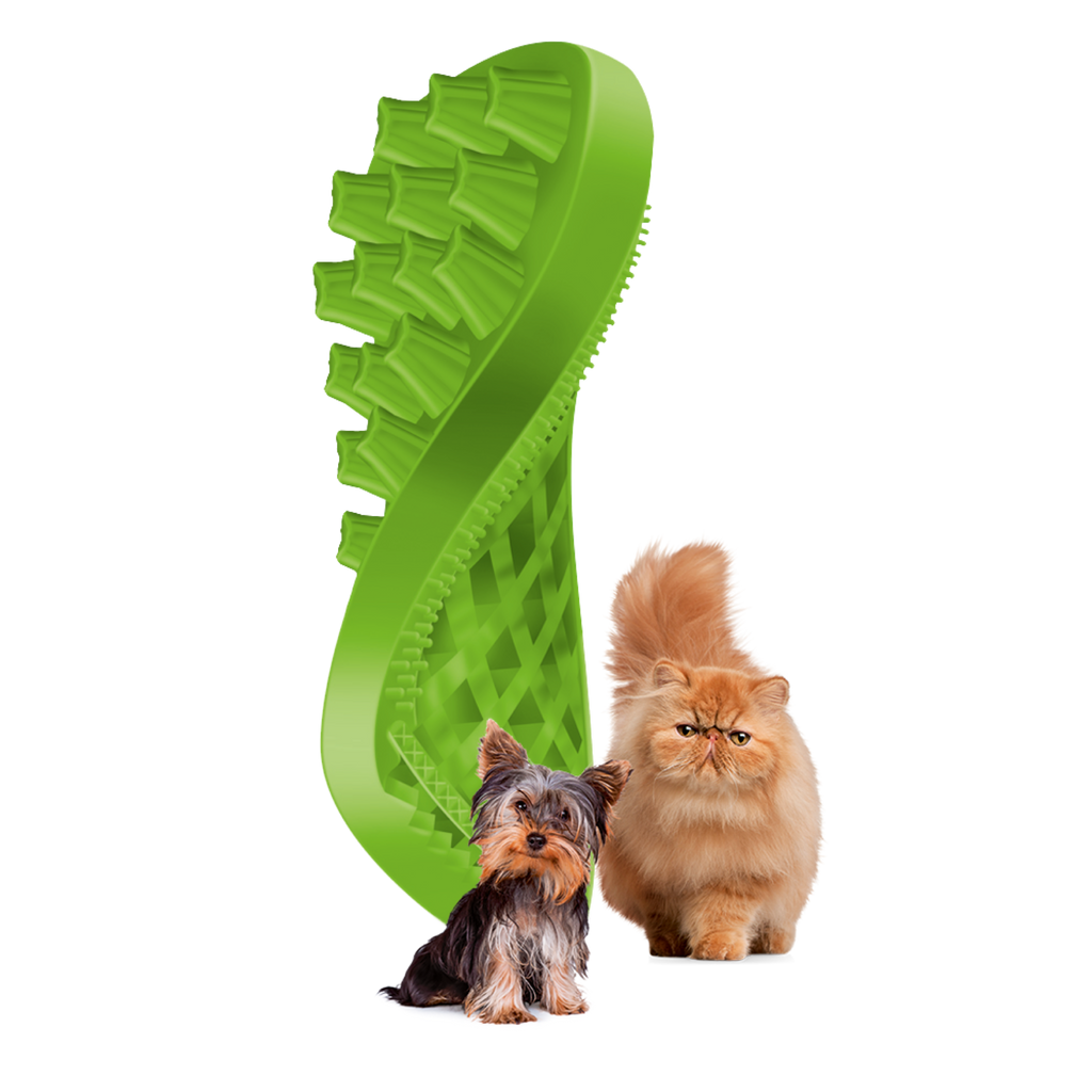 Pet+Me Soft Green Brush for Small Breed Dogs with Long Hair