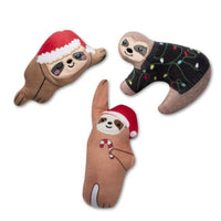 Fringe Studio Christmas Sloths Mini Set 3pc
