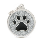 My Family ID Tag Charm Shine Paw Grey