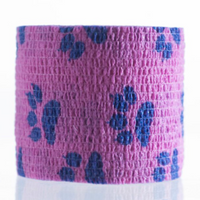 ValuWrap Cohesive Bandage Paw Print Purple 5cm x 4.5m