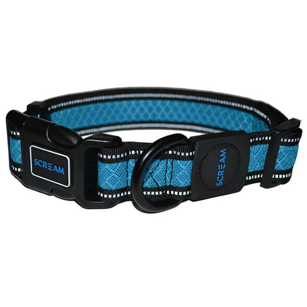 Scream Reflective Adjustable Collar Loud Blue