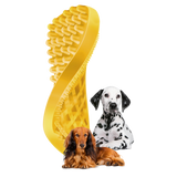 Pet+Me Medium Yellow Brush for Short, thick and wiry hair types