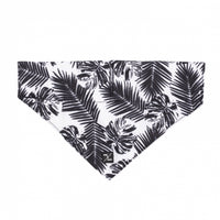 Dog Bandana Tropical Leaf Black