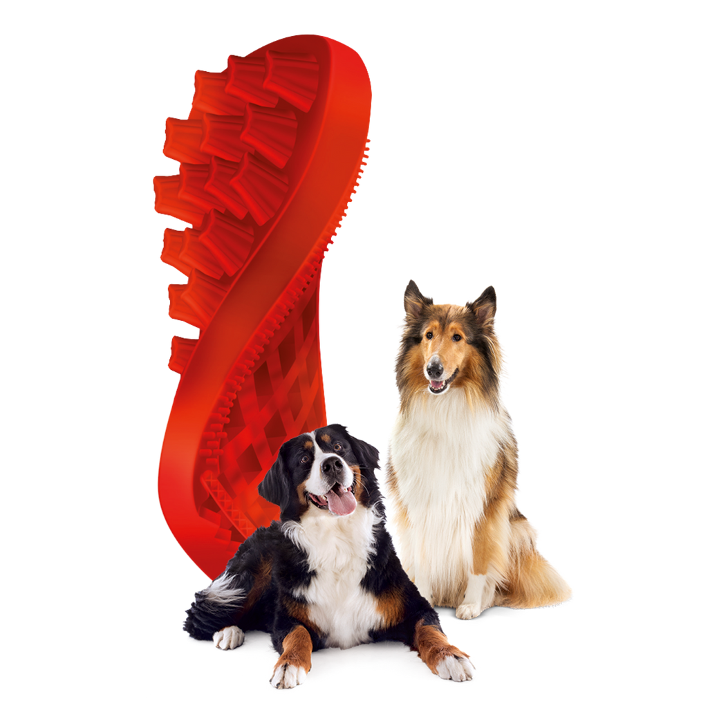 Pet+Me Firm Red Brush for Large Breed Dogs