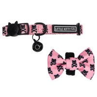 Little Kitty Co Cat Collar & Bow Tie Prettiest of Them All