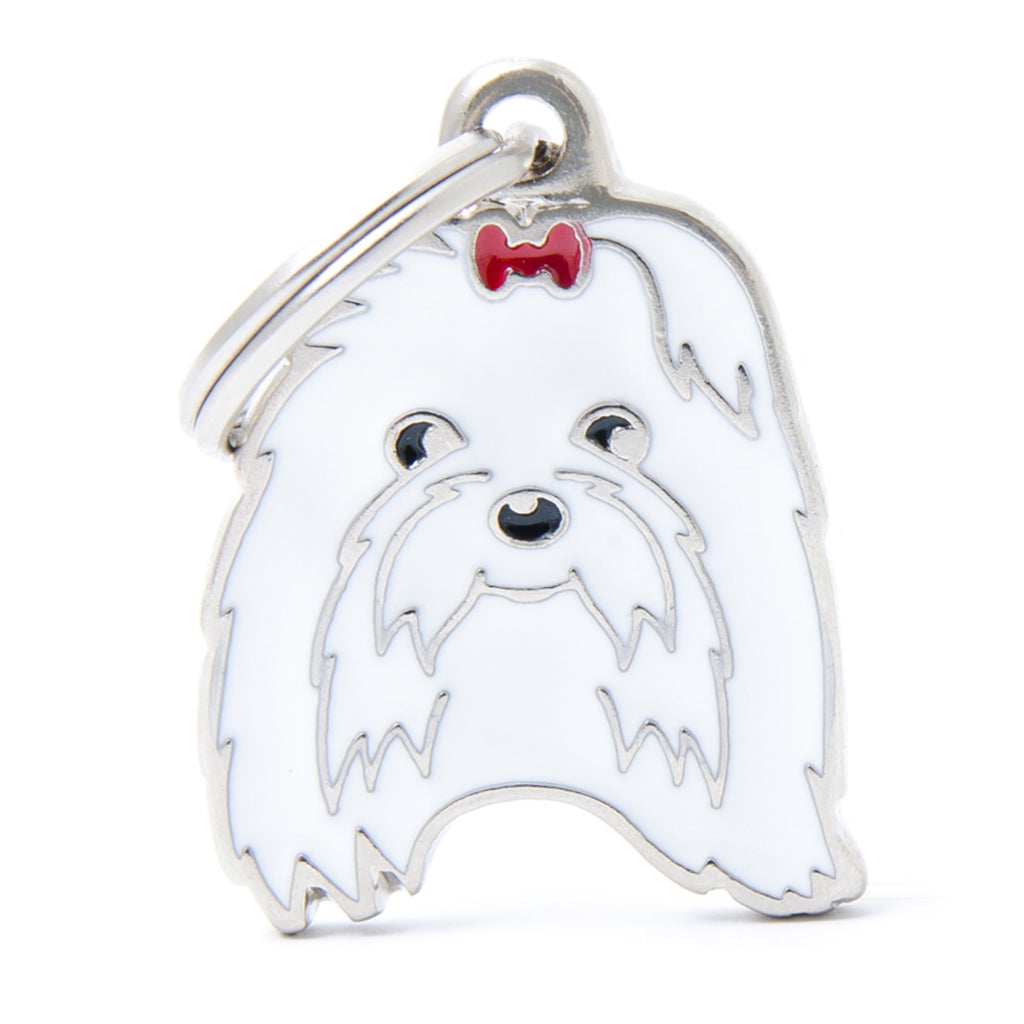 My Family Friends Maltese ID Tag Charm
