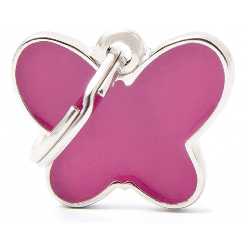 Dog ID Tag Charm M Family Butterfly