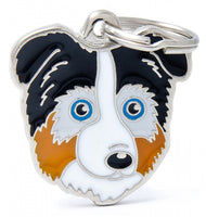 My Family Friends Australian Shepherd ID Tag Charm