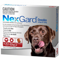 NexGard Chewables Red XLarge 25.1-50kgs 3pk