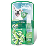 Tropiclean Fresh Breath Liquid Floss Rope Ball 118ml