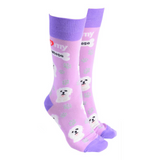 Dog Society Socks Maltese Pink