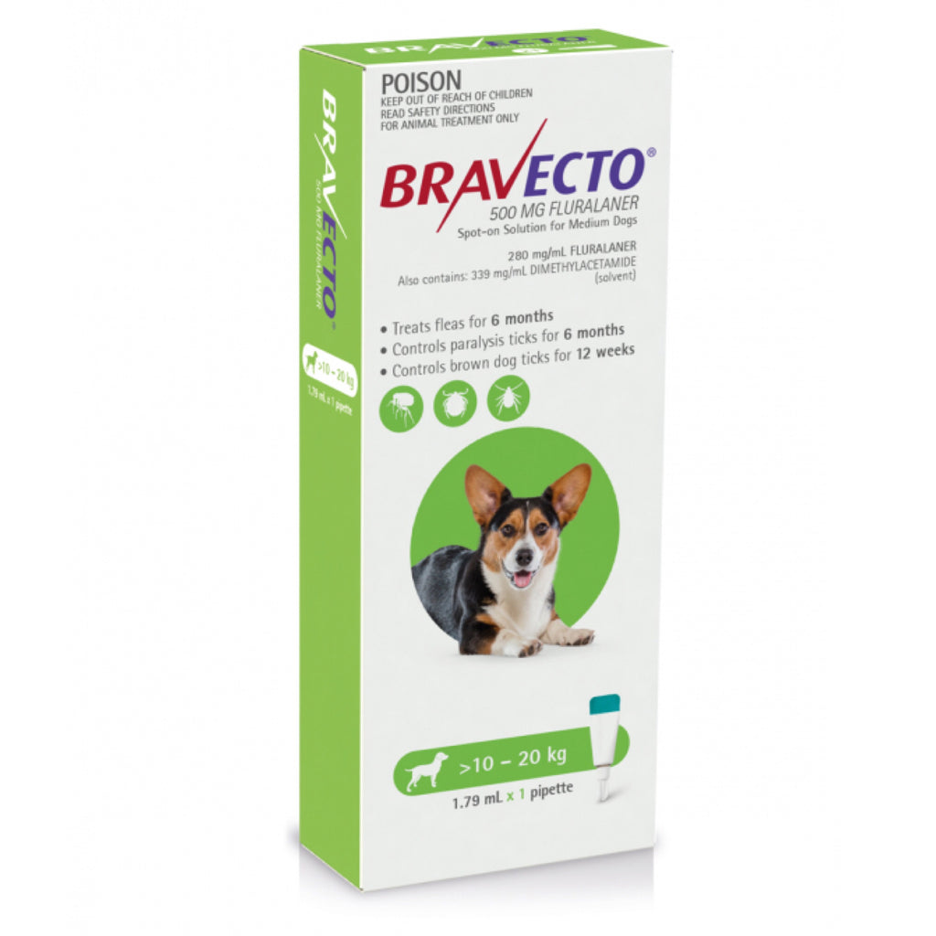 Bravecto Medium Green 10-20kg Spot On