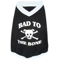 Dog T-Shirt Pampet Bad To The Bone