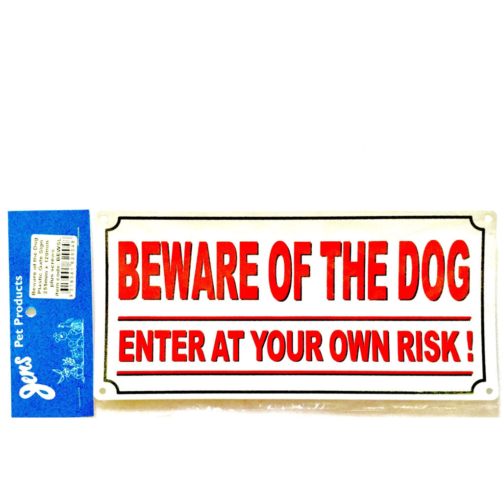 Jens Beware of the Dog Sign