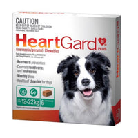 HeartGard Medium Green 12-22kgs 6pk