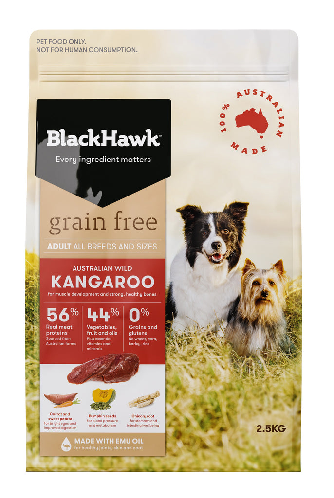Black Hawk Grain Free Kangaroo 2.5kg
