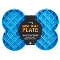 Slodog Slow Feeder Plate Blue