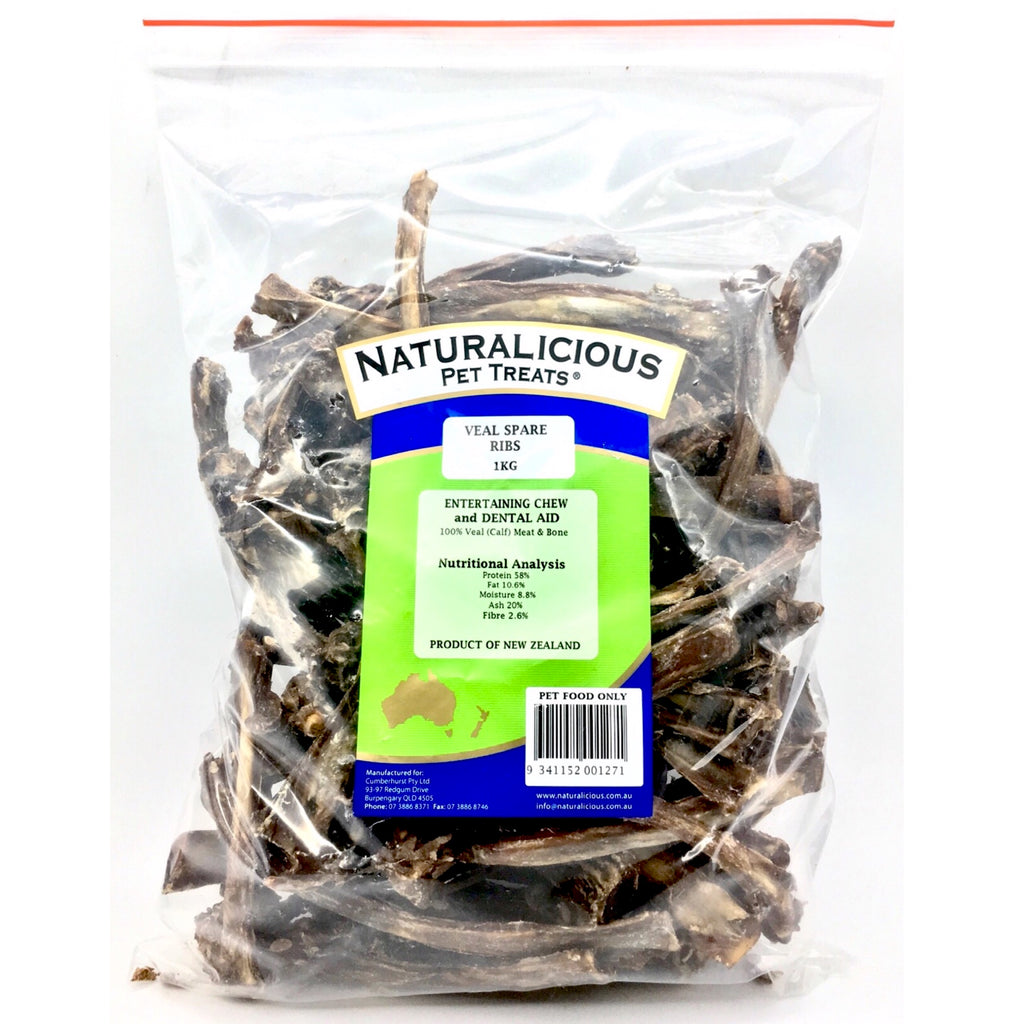 Dog Treats Naturalicious Veal Spare Ribs 1kg