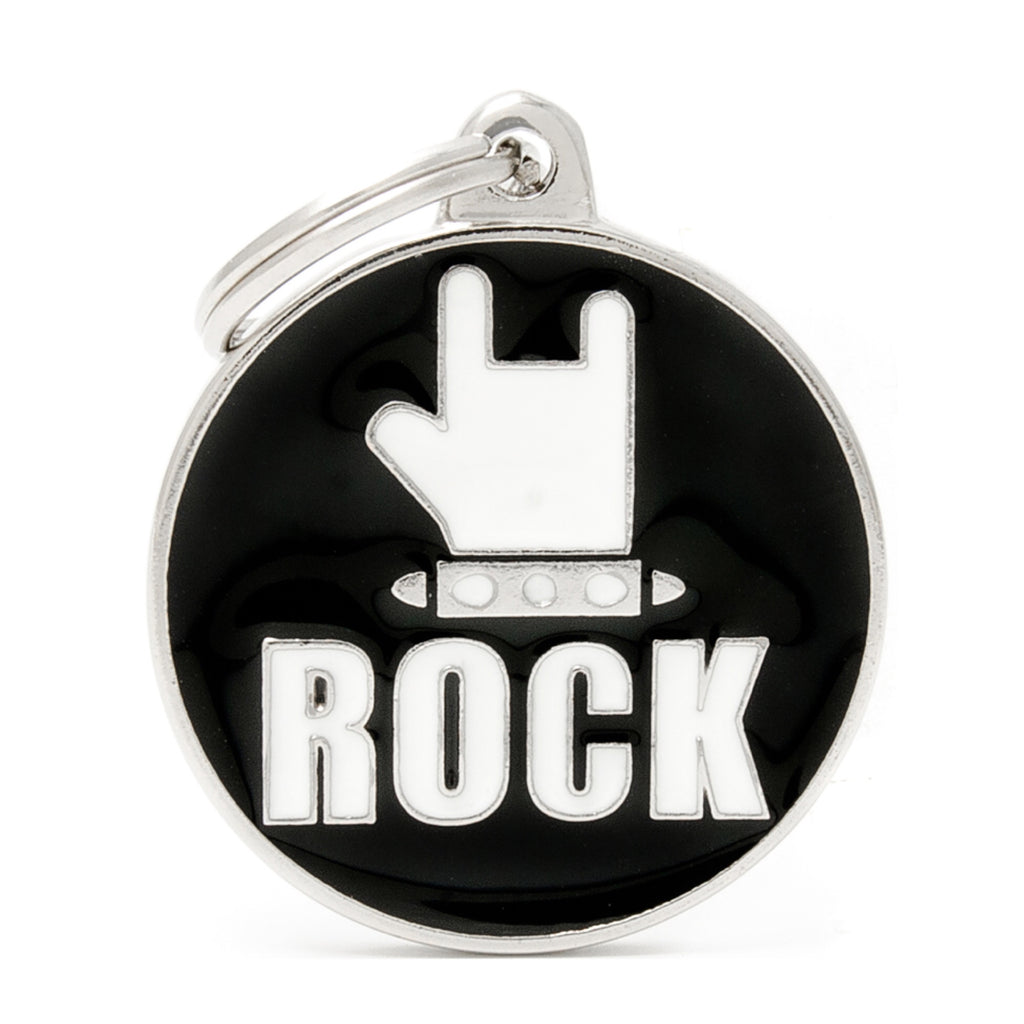 My Family Rock ID Tag Charm
