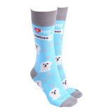 Dog Society Socks Maltese Sky Blue