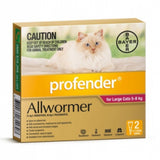 Profender Cat Spot On Allwormer Red 5-8kg 2pk