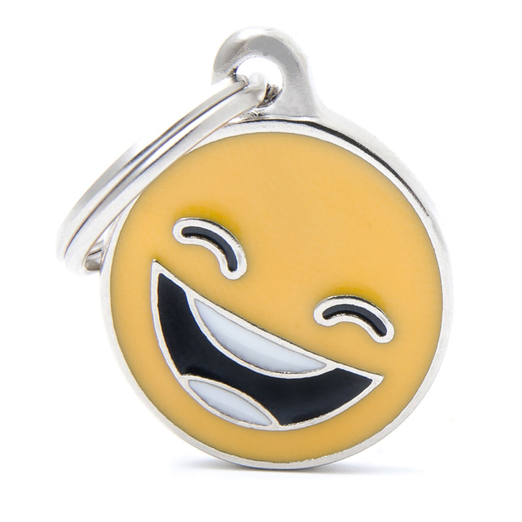 My Family Emoticon Smile ID Tag Charm