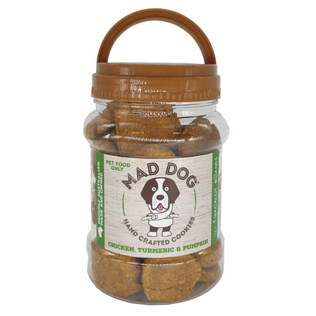 Mad Dog Cookies Chicken, Pumpkin & Turmeric Jar 400g