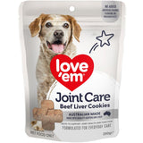 Love Em Beef Liver Cookies Joint Care 250g