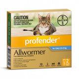 Profender Cat Spot On Allwormer 2.5-5kg 2pk