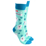 Dog Society Socks Maltese Mint Green