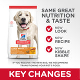 Hill's Science Diet Adult Large Breed Light Key Changes