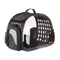 Dog Travel Carrier Ibiyaya Transparent Hardcase Black