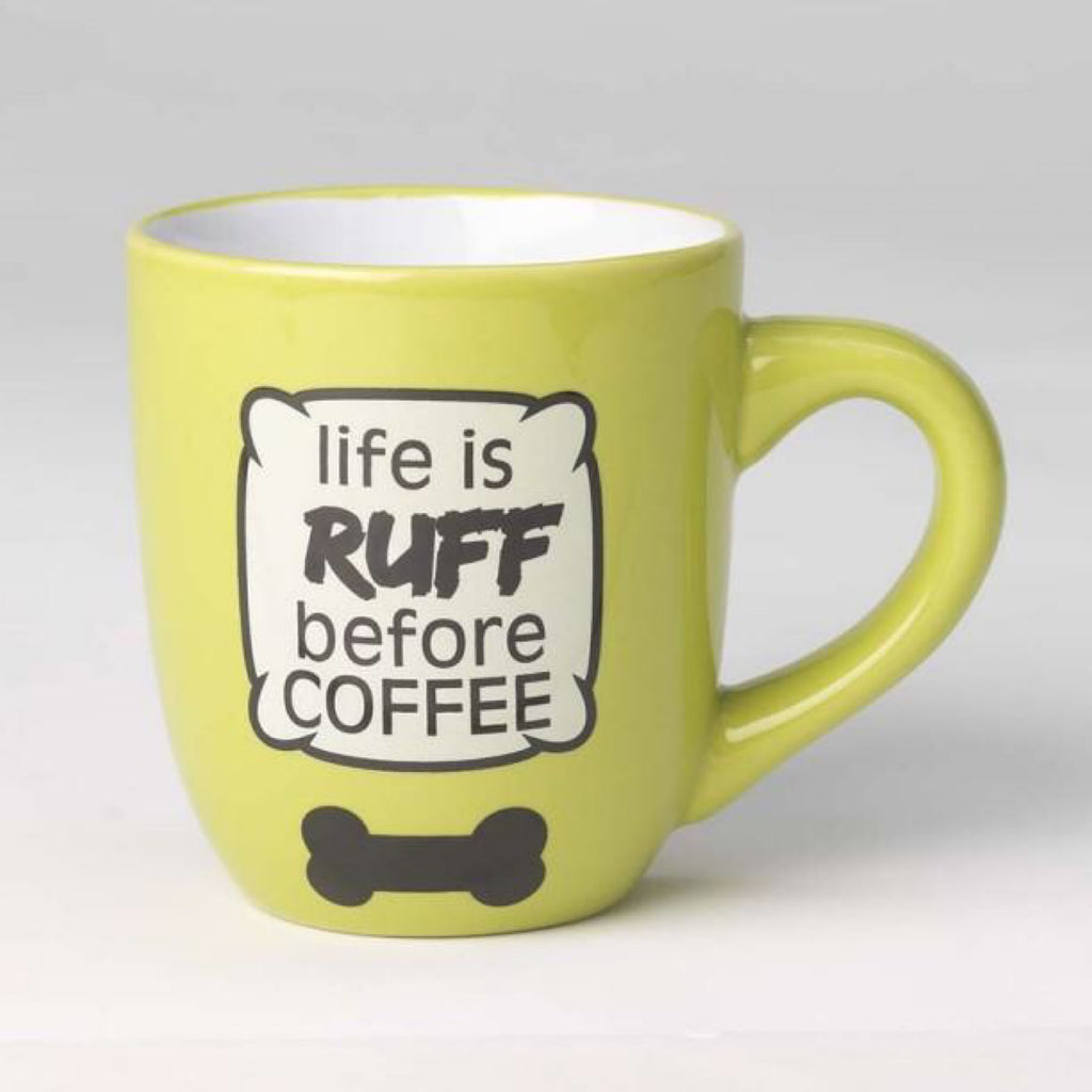 Pet Rage Us Designs Life Is Ruff Coffee Mug 530ml