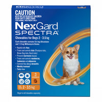NexGard Spectra Orange 2-3.5kgs 3pk