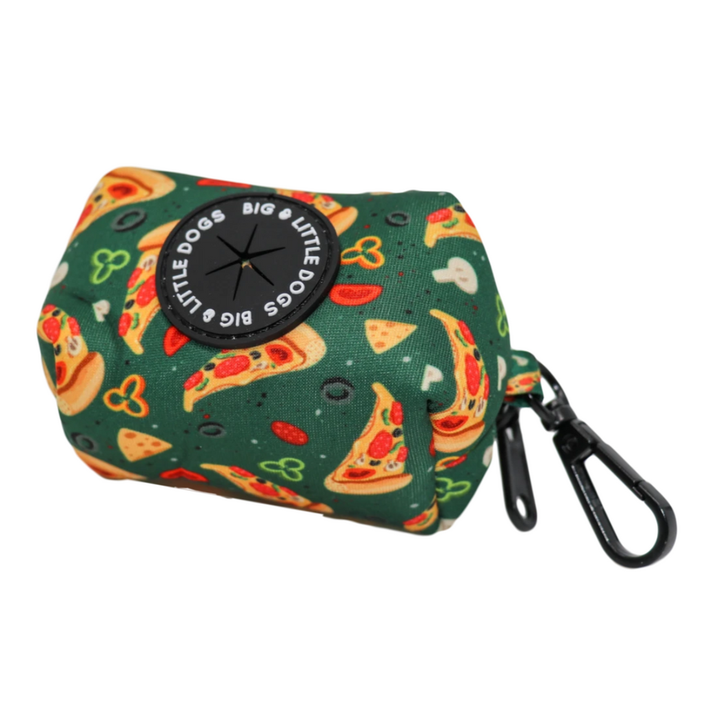 Big & Little Dogs Poop Bag Holder Pupperoni Pizza