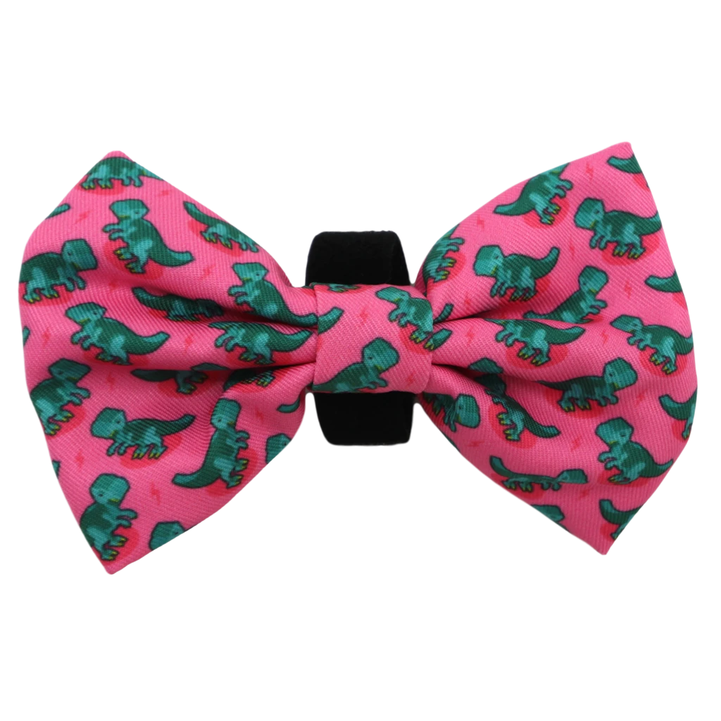 Big & Little Dogs Bow Tie Princess-asaurus