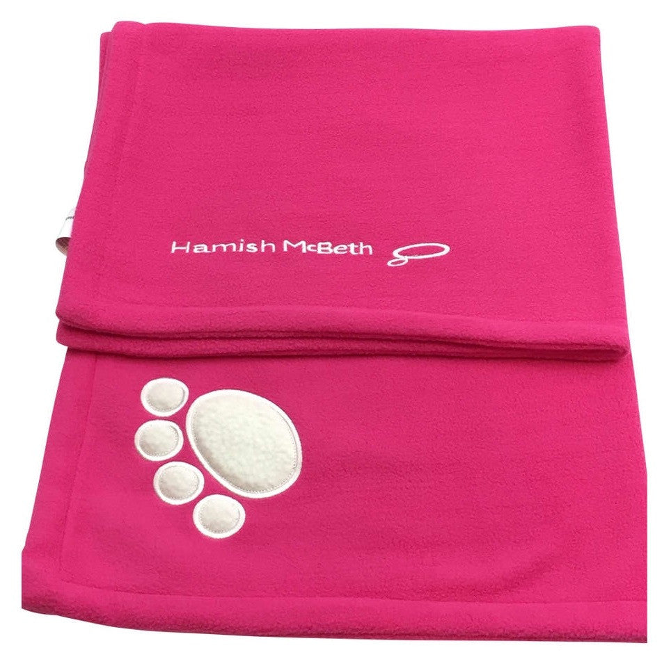 Hamish McBeth Dog Fleece Blanket Pink