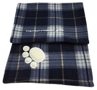 Hamish McBeth Dog Fleece Blanket Blue Tartan
