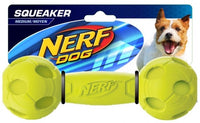 Nerf Dog Squeaker Barbell Green Medium