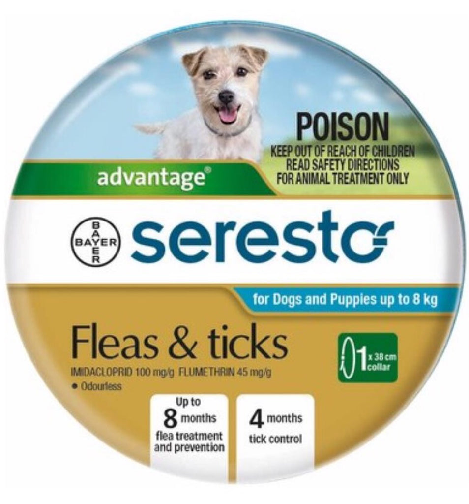 Seresto Fleas & Ticks Under 8kgs