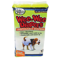 Four Paws Wee Wee Disposable Diapers Small 12pk