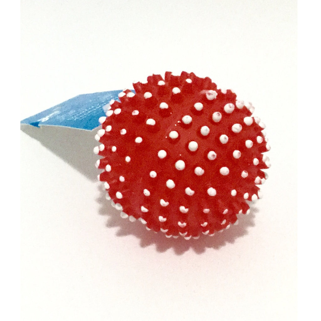 Jens Squeaky Spikey Ball Red