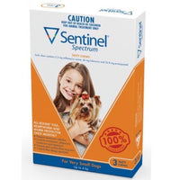 Sentinel Spectrum Orange Very Small 0-4kg 3pk | All Things Canine