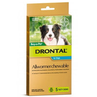Drontal Allwormer 10kg Chewables 5pk