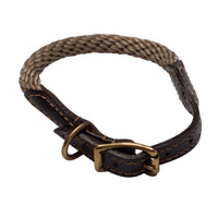 Mog & Bone Leather Rope Collar Large