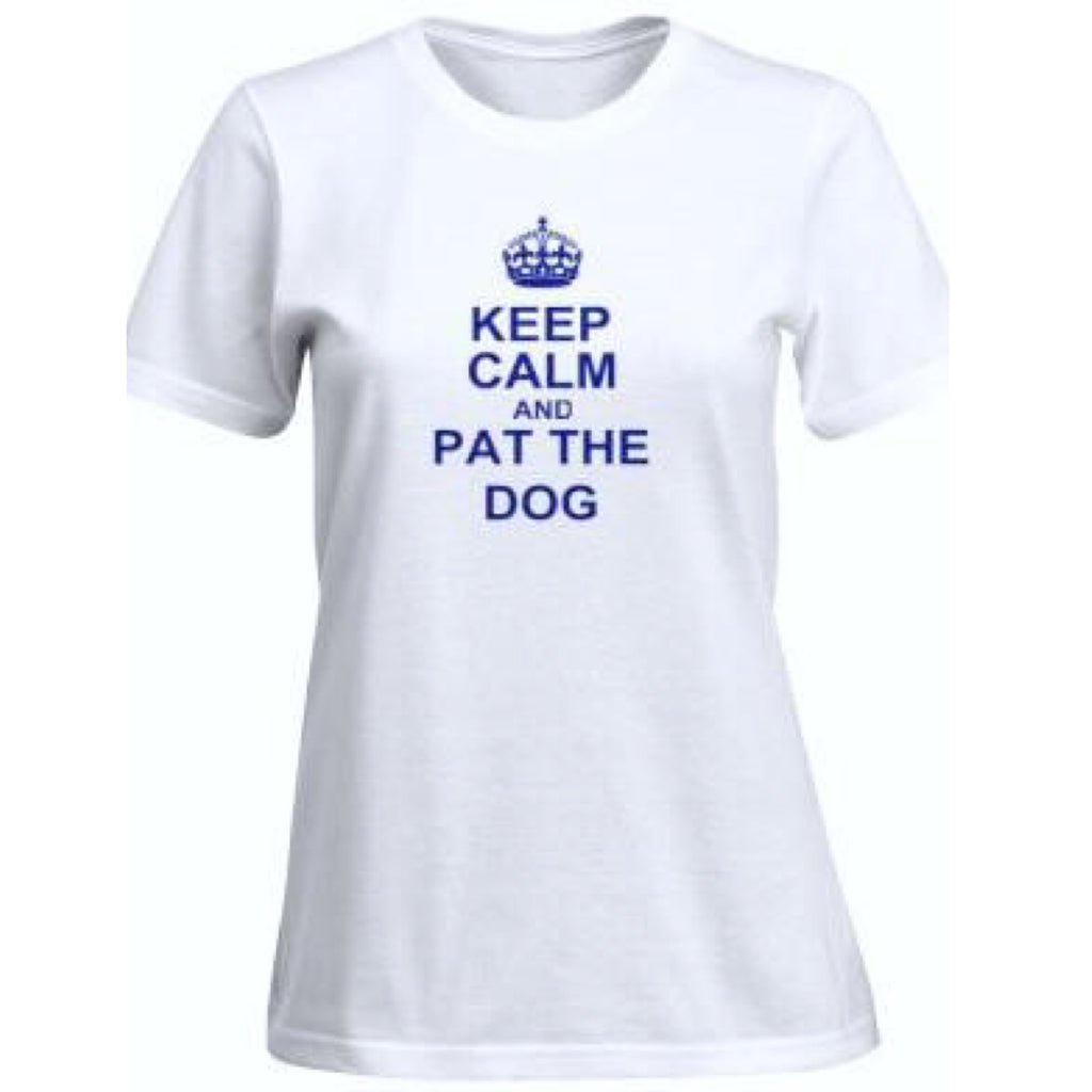 ATC Fitted Keep Calm & Pat The Dog Tee